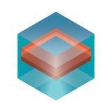 Abstrakta isometriska kuber för design Royaltyfri Foto