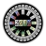 Abstrakta kalendarz dla 2018 Zdjęcia Stock