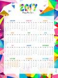 Abstrakta kalendarza projekt dla 2017 Obrazy Stock