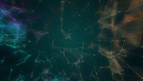 abstrakta knutpunkt- och anslutningsbanor för digitala data 4k royaltyfri illustrationer