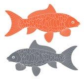 Abstrakta Koi Fish dekorativt damm för carpfiskkoi Royaltyfri Fotografi