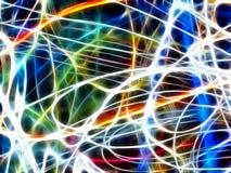 Abstrakta kolorowy światło (fractal tło) royalty ilustracja