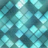 Abstrakta komputeru karciany wzór na zielonej matrycy Obrazy Stock