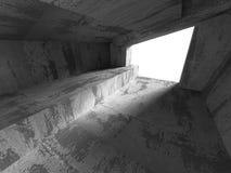Abstrakta konkreta tömmer ruminre Stads- arkitekturbackgr Arkivfoton