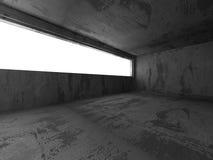 Abstrakta konkreta tömmer ruminre Stads- arkitekturbackgr Royaltyfri Foto