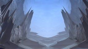 abstrakta konstiga former 3D på blå bakgrund Arkivbild