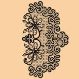 Abstrakta Koronkowy faborek ilustracji