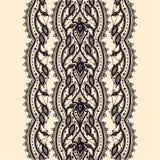 Abstrakta Koronkowy Tasiemkowy Bezszwowy wzór. Obraz Stock