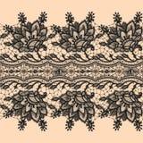 Abstrakta Koronkowy Tasiemkowy Bezszwowy wzór. Zdjęcie Royalty Free
