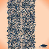 Abstrakta Koronkowy Tasiemkowy Bezszwowy wzór. ilustracja wektor