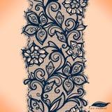 Abstrakta Koronkowy Tasiemkowy Bezszwowy wzór. Fotografia Royalty Free
