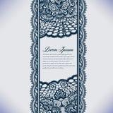 Abstrakta koronkowy tasiemkowy bezszwowy wzór z elementami kwitnie Fotografia Royalty Free