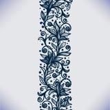 Abstrakta koronkowy tasiemkowy bezszwowy wzór z elementami kwitnie royalty ilustracja