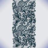 Abstrakta Koronkowy Tasiemkowy Pionowo Bezszwowy wzór ilustracji