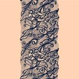 Abstrakta Koronkowy Tasiemkowy Pionowo Bezszwowy wzór ilustracja wektor