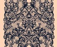 Abstrakta Koronkowy Tasiemkowy Pionowo Bezszwowy wzór Zdjęcia Royalty Free