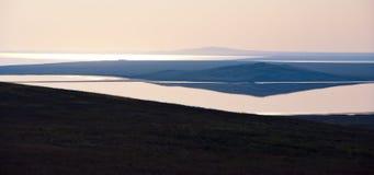 Abstrakta krajobraz z jeziorem Obraz Stock