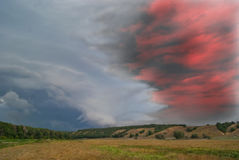 abstrakta krajobrazu chmury nad doliną Obraz Royalty Free