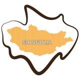 Abstrakta kreskowy tło z mapą Mongolia wektor w eps 10 fotografia stock