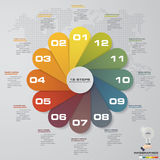 Abstrakta 12 kroków infographics elementy/linia czasu również zwrócić corel ilustracji wektora 12 ilustracja wektor