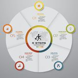 Abstrakta 5 kroków pasztetowej mapy infographics elementy również zwrócić corel ilustracji wektora ilustracja wektor