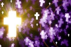 Abstrakta krzyża światła tło Zdjęcie Royalty Free