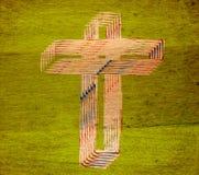 abstrakta krzyż Fotografia Royalty Free