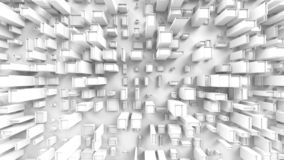 Abstrakta kubikstadsstrukturer - som är bästa ner sikt royaltyfria foton