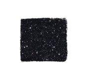 Abstrakta kwadrat czarny błyskotliwości błyskotanie na białym tle dla twój projekta Zdjęcia Royalty Free