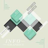 Abstrakta kwadrata etykietki infographics Obraz Royalty Free