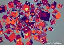 Abstrakta kwadratowy skład Obrazy Stock