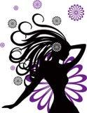 abstrakta kwiatów ilustracyjne miłości kobiety Obrazy Stock
