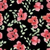 Abstrakta kwiatu Różany wzór Obraz Royalty Free