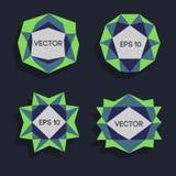 Abstrakta låga poly moderna etiketter För vektor poly ram lågt med utrymme för idérik låg poly beståndsdel för textmall vektor Royaltyfri Fotografi