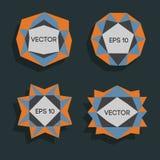 Abstrakta låga poly moderna etiketter För vektor poly ram lågt med utrymme för idérik låg poly beståndsdel för textmall vektor Royaltyfri Foto