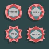 Abstrakta låga poly moderna etiketter För vektor poly ram lågt med utrymme för idérik låg poly beståndsdel för textmall vektor Royaltyfri Bild