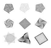 Abstrakta labyrintformer Arkivbild