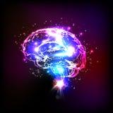 Abstrakta lekki ludzki mózg Fotografia Royalty Free