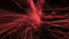 Abstrakta linjer flödar med rött djup av fältet stock illustrationer