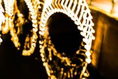 Abstrakta ljus av en bro i Amsterdam royaltyfri fotografi