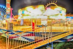 Abstrakta ljus av färjaritten på karnevalet Arkivfoton