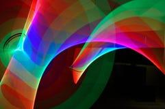Abstrakta ljusa bandslingor Royaltyfri Fotografi