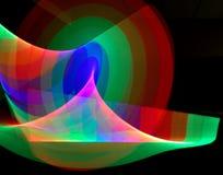 Abstrakta ljusa bandslingor Arkivfoton