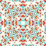 Abstrakta ljusa blommor på en ljus bakgrundsvektorillustration Royaltyfri Foto