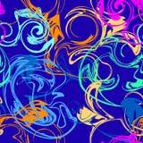 Abstrakta ljusa färgrika spiral, virvel, sprej Arkivbilder