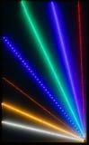 Abstrakta ljusa strålar stänger sig upp Arkivfoton