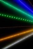 Abstrakta ljusa strålar stänger sig upp Fotografering för Bildbyråer
