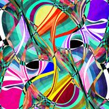 Abstrakta ljusa vågor för diagram Royaltyfri Foto