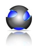 Abstrakta logoer för sfär 3d Arkivfoton