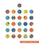 Abstrakta logoer för rund bokstav Fotografering för Bildbyråer